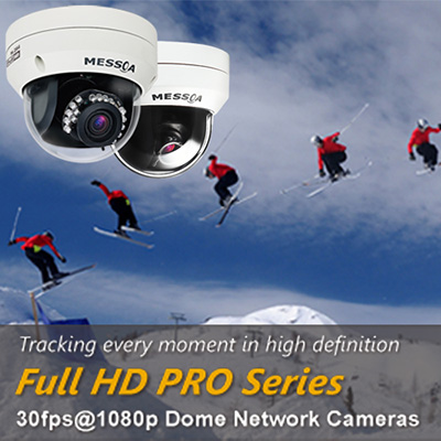 MESSOA launches Full HD PRO Series dome network cameras with enhanced features