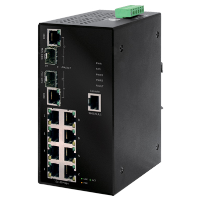 MobileView GE-DSH-82 industrial Ethernet managed switch