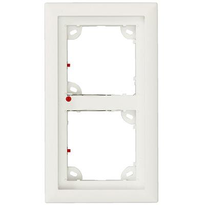 MOBOTIX MX-OPT-Frame-2-EXT-PW white double frame - mounting