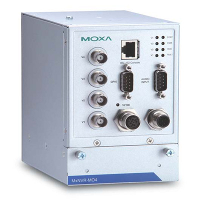 MOXA MxNVR-MO4 4-channel H.264/MJPEG streaming video recorder