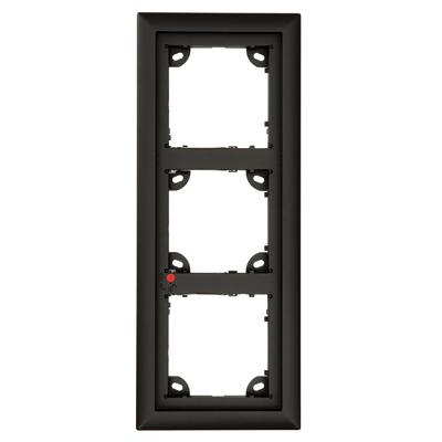 MOBOTIX MX-OPT-Frame-3-EXT-BL Triple Frame, Black