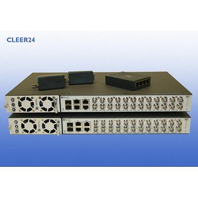 NVT NV-CLR-024-5 24-port managed Ethernet/PoE over coax switch