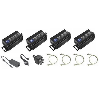 NVT NV-EC1701-K3H triple camera EoC transmission system kit