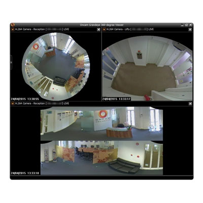 Oncam 360-degree Camera Viewer CCTV software