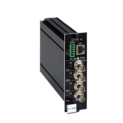 C-44 E-MC 4-channel video codec: latest addition to the Siqura® Surveillance Solution family from Optelecom-NKF