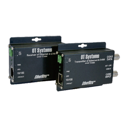 OT Systems ET1100C2-R 10/100BASE-TX Ethernet Over Coaxial Receiver