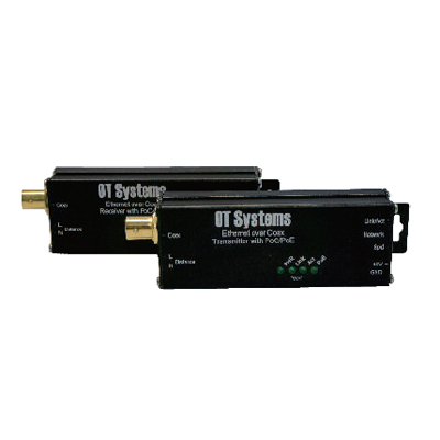 OT Systems ET1100CP 10/100BASE-TX Ethernet Over Coaxial Converter