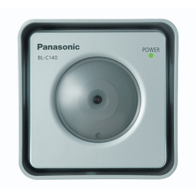 Panasonic BL-C140 splash-resistant network camera with MPEG-4/JPEG monitoring and proprietary PoE capability