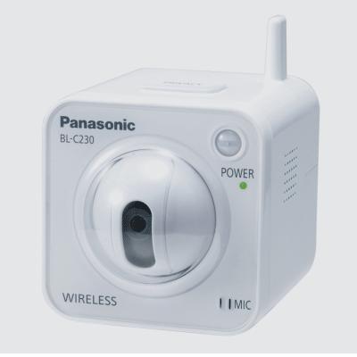Panasonic BL-C230 IP camera with H.264/MPEG-4/JPEG monitoring with wireless capability
