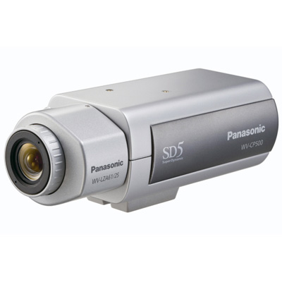Panasonic WV-CP500 static CCTV camera with 650 TVL
