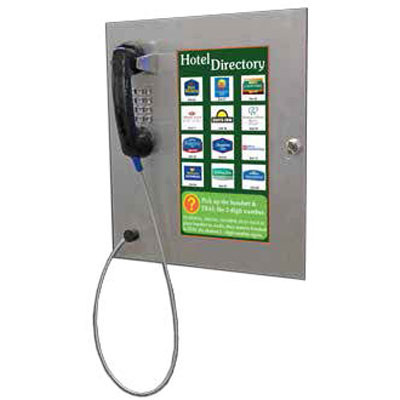 Parabit 900-00006 flush mounted directory phone with keypad