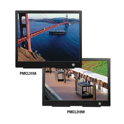 Pelco PMCL319 TFT LCD with internal speakers optional rack, wall and ceiling mount