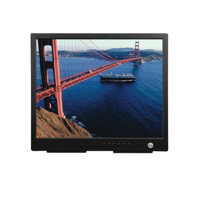 Pelco PMCL417  TFT LCD monitor with internal speakers optional rack, wall and ceiling mounts