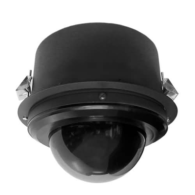 Pelco SD427-F-E1-X true day / night external PTZ dome camera - flush mount black clear