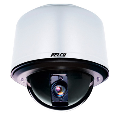 Pelco SD435-PG-E1-X true day / night external PTZ dome camera - pendant mount grey clear