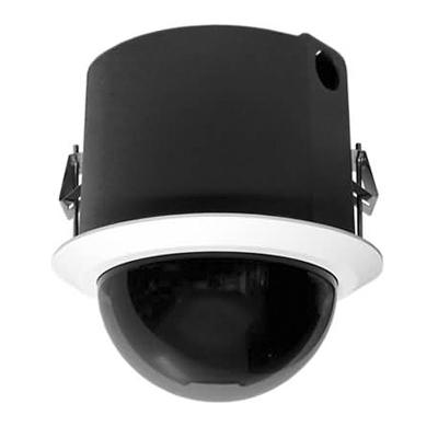 Pelco SD4E23-F-E1-X IP day / night flush mount black clear PTZ dome camera