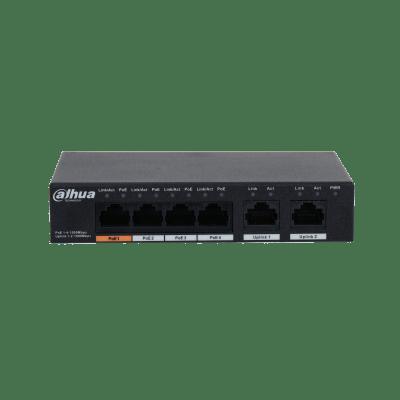 Dahua Technology PFS3006-4GT-60 6-Port Unmanaged Desktop Gigabit Switch With 4-Port PoE
