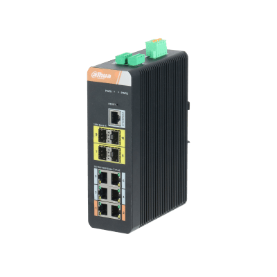 Dahua Technology PFS4410-6GT-DP 10-Port Gigabit Industrial Swicth with 6-Port Gigabit PoE (Managed)