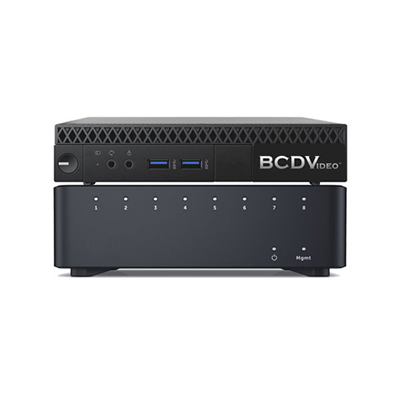 BCDVideo BCDM02P-8P-SSP Micro Video Recording Server & 8-Port PoE Network Switch