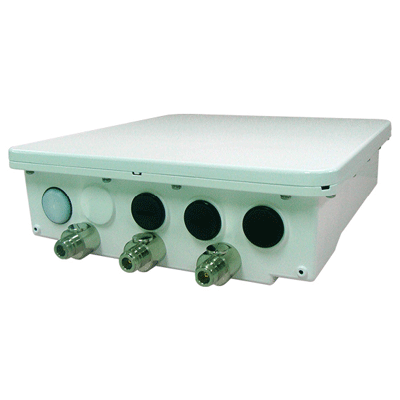 Proxim Wireless Tsunami MP-8150-SUR CCTV transmission system with an integrated 2x2 MIMO 21dBi dual polarised antenna