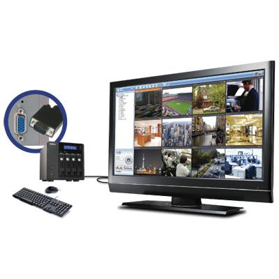 QNAP VS-4012 Pro network video recorder with multi-server monitoring