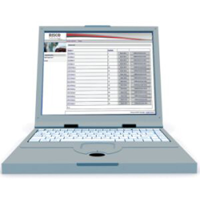 RISCO Group Maxi.Net access control software with direct event log requests using user friendly interface