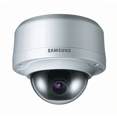 Hanwha Techwin America SCV-2080P dome camera with IP66 vandal-resistant protection