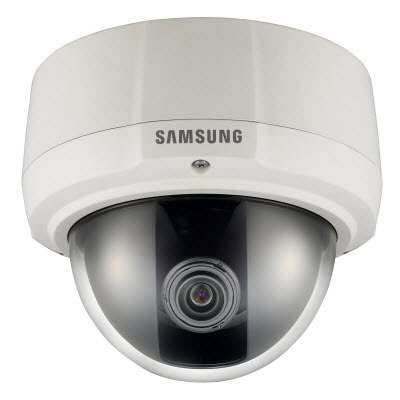Hanwha Techwin America SCV-3082N WDR vandal-resistant dome camera with 650 TVL resolution