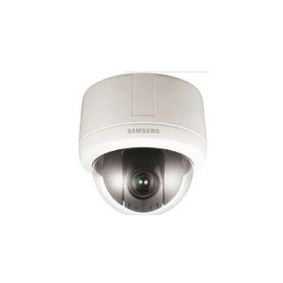 Hanwha Techwin America SNP-3120V external PTZ dome camera with digital image stabilisation