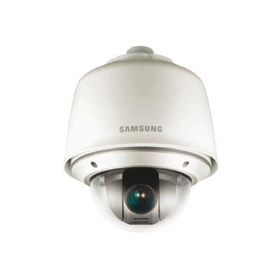 Samsung SNP-3430H dome camera with multi-lingual on screen display