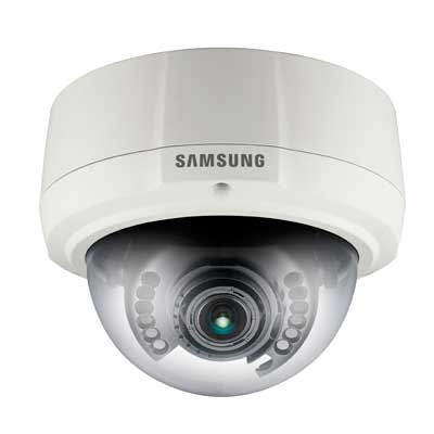 Hanwha Techwin America SNV-1080P 30 fps vandal-resistant network dome camera
