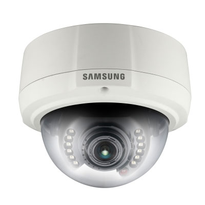Hanwha Techwin America SNV-1080R VGA netwrok dome camera with built-in IR LEDs