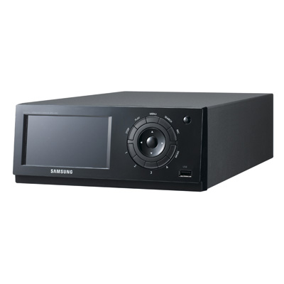 4 channel H.264 DVR with built-in touch-screen LCD monitor from Samsung