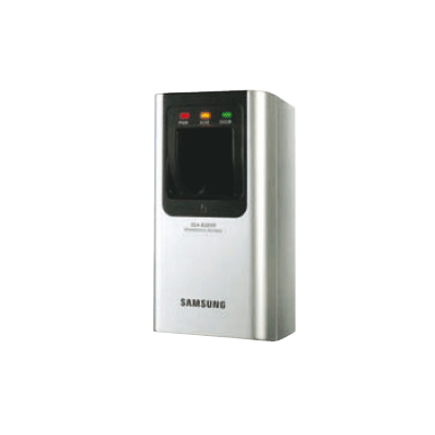 Hanwha Techwin America SSA-R2010 access control reader with fingerprint recognition capability