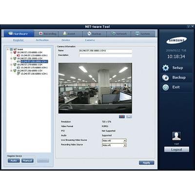 Hanwha Techwin America Techwin SNS-SF008 8 device recording software
