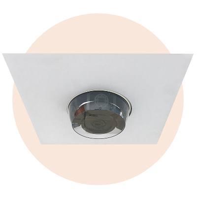 Hanwha Techwin America SHD-317F indoor 2X2 drop ceiling tile flush mount