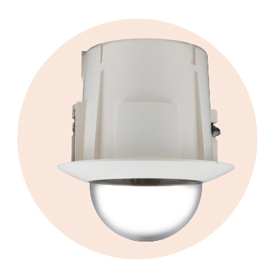 Hanwha Techwin America SHP-3701FB In-ceiling Flush Mount (Tinted)