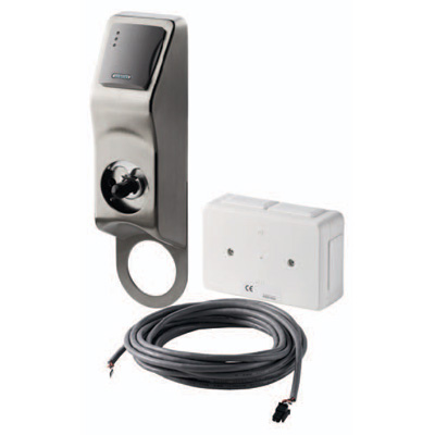 Siemens PD40-EM is a system Prox reader with an integrated electromechanical lock.