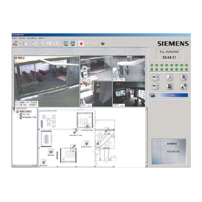 Network video recording with Siemens SISTORE MX NVS - intuitive software, complete functionality