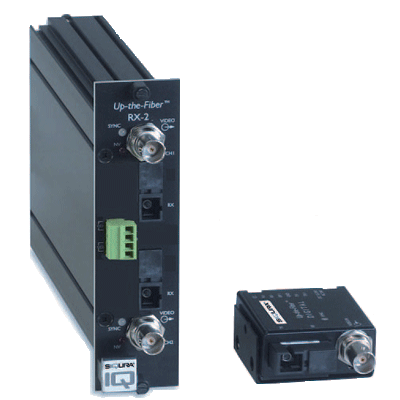 Siqura Up-the-Fiber™ 4000 miniature digital video transmitter