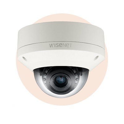 Hanwha Techwin America SNV-5084R 1.3Megapixel HD Vandal-Resistant Network IR Dome Camera
