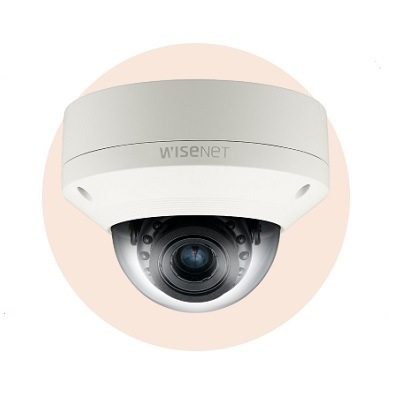 Hanwha Techwin America SNV-6085R 2MP Full HD Vandal-Resistant Network IR Dome