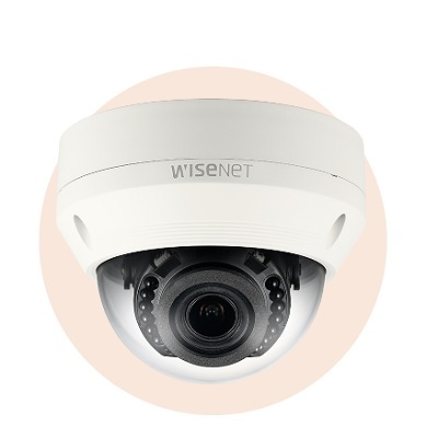 Hanwha Techwin America SNV-L6083R 2MP Full HD Vandal-Resistant Network IR Dome