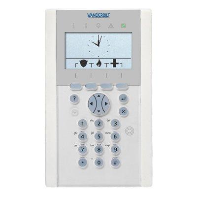 Vanderbilt SPCK623.100-N LCD Keypad With Graphical Display, Card Reader And Audio