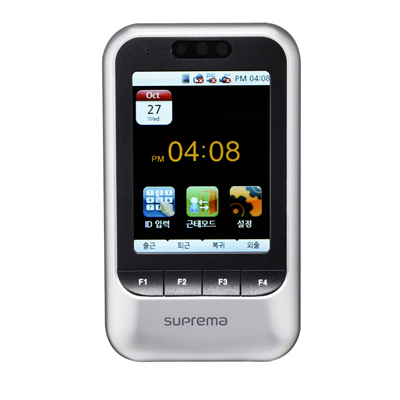 Suprema touchscreen IP access control terminal with face detection feature