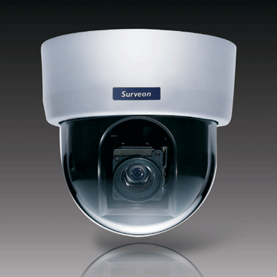 Surveon CAM5210 dome camera with SD/SDHC local storage for alarm capture