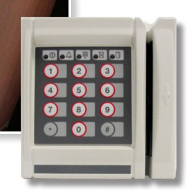 AMAG S620-1 Wall-Mount Magstripe Card And Keypad Reader
