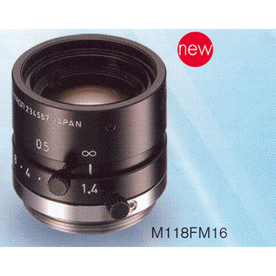 Tamron M118FM16 lens with 16mm focal length and manual iris