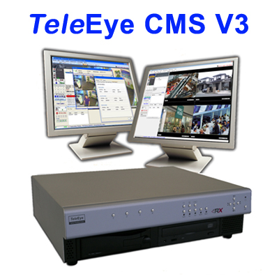 TeleEye Central Monitoring Station version 3.0 (CMS V3) for 100 monitoring sites