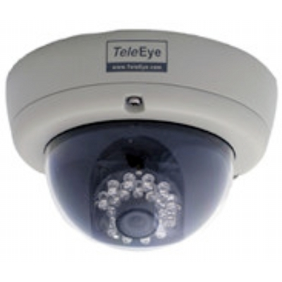 TeleEye DF286 outdoor IR dome camera with 480 TVL